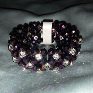 Jewelry - 🚧SALE💜Gorgeous Crystal/Purple Layered Bracelet